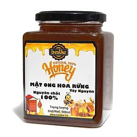 Mật ong rừng Tây nguyên nguyên chất, Hũ 500ml, 100% natural honey, honey bestke