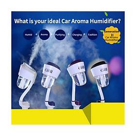 Máy khuếch tán tinh dầu xe hơi Nanum Car II Humidifier 2 cổng USB cần dẻo