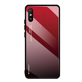 Ốp lưng cho Xiaomi Redmi 9A gương cứng 2 màu Gradient Ver 2 , viền TPU dẻo đen