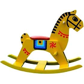 Bập Bênh Ngựa Gỗ Cho Bé