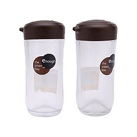 Bộ 2 lọ nhựa đựng gia vị rót xì dầu/ nước tương, nước mắm 120ml cao cấp - Hàng Nội Địa Nhật
