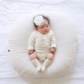 Gối chống trào ngược Rototo bebe chính hãng chất liệu Cotton chần bông