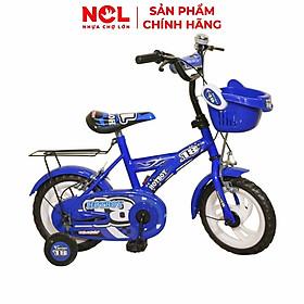 Xe đạp trẻ em Nhựa Chợ Lớn 12 inch K73 - M1395-X2B, Sườn xe bằng sắt chịu lực, Nhựa chính phẩm an toàn, Sản xuất tại Việt Nam - Hàng chính hãng