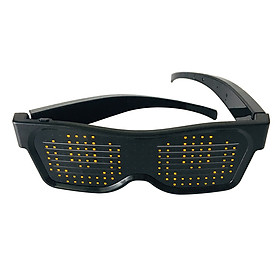 LED Light up Glasses USB Rechargeable & Wireless with Flashing LED Display Glowing Luminous Glasses for Christmas Party