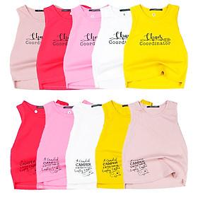 Combo 2 áo thun ba lỗ (2 màu khác nhau) hàng Quảng Châu cho bé gái từ 12 đến 24 kg 00412-00424