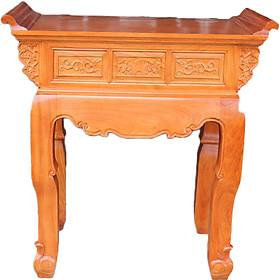 Bàn thờ 1 tầng gỗ Gõ Đỏ kiểu hiện đại Anphuco