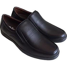 Giày tây nam công sở Trường Hải mũi tròn màu đen da bò thật mềm mại không bong tróc đế cao su chống mòn không trơn GT0231