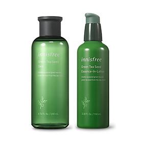 Innisfree Green Tea Seed Skin + Essence-in-Lotion Set Total 2pcs