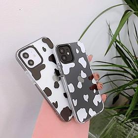Case Ốp Lưng Bò Sữa Dành Cho Iphone 11, iPhone 11 Pro Max, iPhone 12, iPhone 12 Pro, iPhone 12 Pro Max