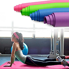 Thickened Yoga Mat Multi-functional Non-slip Yoga Mats 1830mm*610mm*10mm Grey-4