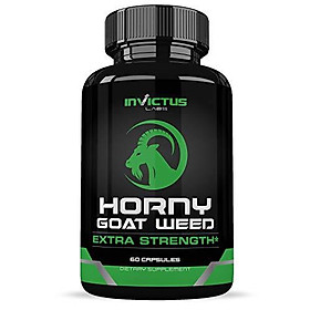 Extra Strength Horny Goat Weed Extract - Maca, Tribulus, L Arginine & Ginseng -Enhanced Energy & Performance Complex for Men & Women, All Natural Booster - 1000mg Capsules