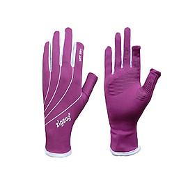 Găng tay hở ngón chống nắng UPF50+ tím Zigzag GLV00806