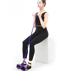 Fitness Pedal Puller Resistance Band 4 Tubes Elastic Rope Sit-up Pull-up Shoulder Arm Abdomen Waist Leg Gym Workouts-5