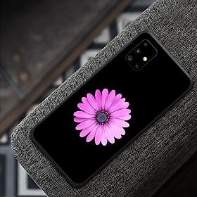 Ốp điện thoại dành cho máy Samsung Galaxy A51 - Hoa cúc tím MS ADGDA002