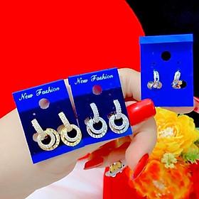 Bông tai nữ cao cấp dát vàng 18 dát bạch kim