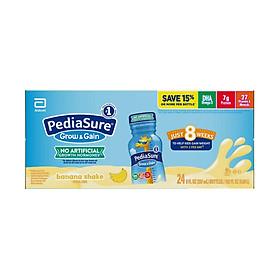 Sữa nước Pediasure Grow & Gain Banana Shake (Vị chuối) 237ml x 24 Chai (Thùng) Mẫu mới 2020 - Nhập khẩu Mỹ