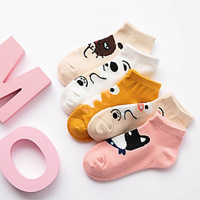 Antarctic new children's socks for boys and girls in the tube cotton socks baby baby socks children spring and autumn seasons socks cute cartoon XXL (9-12 years old socks bottom 18cm)