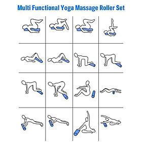Dụng Cụ Tập Yoga 3 Trong 1 Hỗ Trợ Trị Liệu Vật Lý Và Giảm Đau Cơ Bắp - Nhiều Màu-2