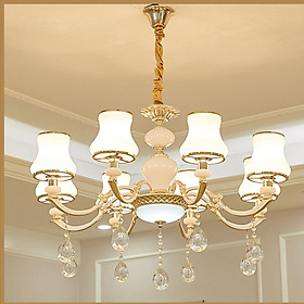 Đèn Chùm 8 Tay  Thiết Kế Sang Trọng Phù Hợp Trang Trí Phòng Khách, Nhà Hàng, khách Sạn