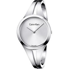Đồng Hồ Nữ Calvin Klein-K7W2M116-Tròn Nữ Trắng 2K Không Số Còng Inox