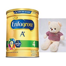 Combo 1 Lon Sữa Bột Enfagrow A+ 4 1.7kg Tặng Đồ Chơi Gấu Bông Pipobun cho trẻ em
