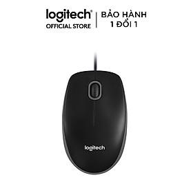 Chuột Có Dây Logitech B100 - Hàng Chính Hãng