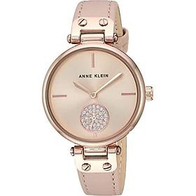 Đồng hồ nữ Anne Klein đính pha lê Swarovski dây da Nhập Khẩu Mỹ