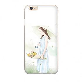 Ốp lưng cho Iphone 6s CÔ GÁI DỊU DÀNG in theo chất liệu