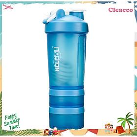 Bình nước thể thao thân tháo rời tiện lợi chất liệu nhựa Cleacco