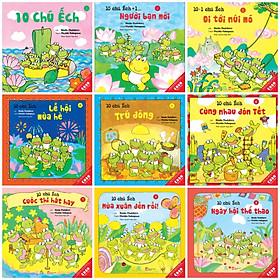 Ehon Nhật Bản 9Q Phần 1 - 10 chú ếch  (Sách ehon kỹ năng sống / cho bé 3-8 tuổi + Poster An Toàn Cho Con Yêu)