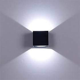 Adjustable 6W LED Wall Lamp AC85-265V COB Waterproof Aluminum Cube Outdoor Porch Wall Light