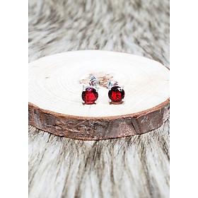 Keely Valda Bông tai bạc classic red ruby