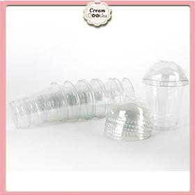 50 Cốc Nhựa/Ly Nhựa Nắp Cầu Đựng Trà Sữa 350ML