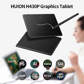 Huion H430P Graphics Tablet Drawing Tablet with 4096 Levels Pressure Sensitivity 5080LPI Pen Resolution 233PPS Report