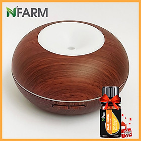 Máy khuếch tán/ máy xông tinh dầu Hình Bánh Donut N'Farm NF2067 + tinh dầu cam hương N'Farm (10ml)