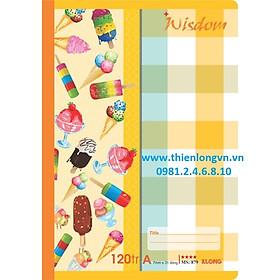 Vở kẻ ngang Wisdom - 120 trang; Klong 879 bìa vàng