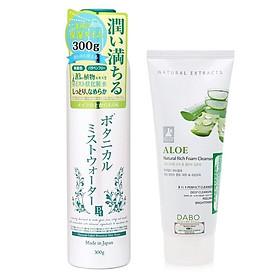 Combo 1 xịt khoáng dưỡng da Platinum Nhật bản ( 300g) VỎ XANH + 1 Sữa rửa mặt dabo (60ml) Hương ngẫu nhiên