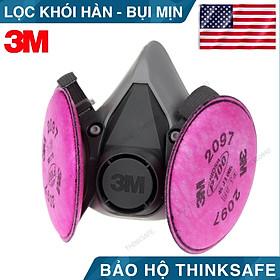 Mặt nạ phòng độc 3M 6200 phin lọc 3M 2097 lọc bụi mịn pm2.5, khói hàn, chống hơi sơn 3m 6200 - 3m 2097