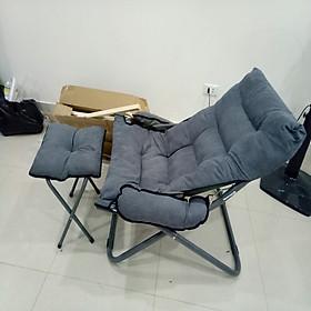 Ghế sofa lười kèm đôn - Ghế lười salon tặng kèm ghế đôn - Giao hàng màu sắc ngẫu nhiên