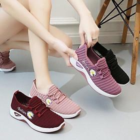 Giày thể thao nữ hoa cúc , giày đi bộ đế êm - TT8