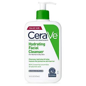 Sữa rửa mặt Cerave Hydrating Facial Cleanser cho da khô