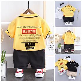 Đồ bộ cho bé trai - Áo thun + Quần thun cho bé  BT32 Size 80-110 (6-18kg) Quần áo trẻ Em hàng quảng châu