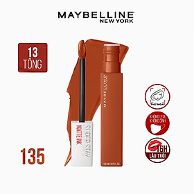 Son Kem Lì 16h Lâu Trôi Maybelline New York Super Stay Matte Ink Lipstick 5ml Màu 135 Globetrotter