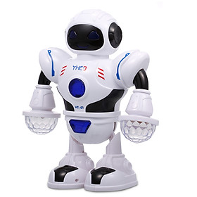 Electronic Dancing Robot for Kids Mini Robot Toys with Colorful Flashing Lights Cool Sounds Birthday Gift for Boys and