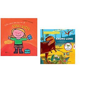 Combo 2 cuốn Cuốn sách lớn rực rỡ về giáo viên + Bách khoa tri thức đa tương tác - Khủng long