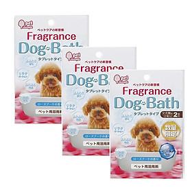 Bộ 3 set muối tắm cho cún dạng viên hương hoa hồng (set 2 viên) - Hàng nội địa Nhật