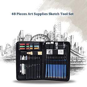 Bút Chì Vẽ Chuyên Nghiệp H&B Có Túi Đựng (48 Cái)