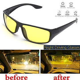 UV Night Driving Glasses Night Vision Polarized Sunglasses Anti Glare Mirror US