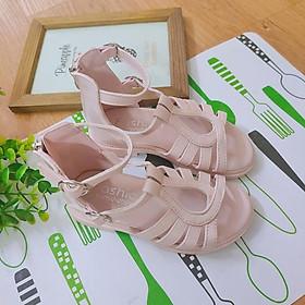 Giày Sandal Chiến Binh Bé Gái 3 - 15 Tuổi, Dép Sandal Cho Bé Đế Mềm Chất Da PU Kiểu Dây Đan Phong Cách Cá Tính