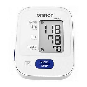 Máy đo huyết áp bắp tay Omron HEM-7121 + Tặng kèm khẫu trang y tế cao cấp BIOMEQ